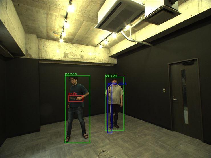 刃物を検出する自律移動警備AIロボット 警備員の負担軽減に貢献