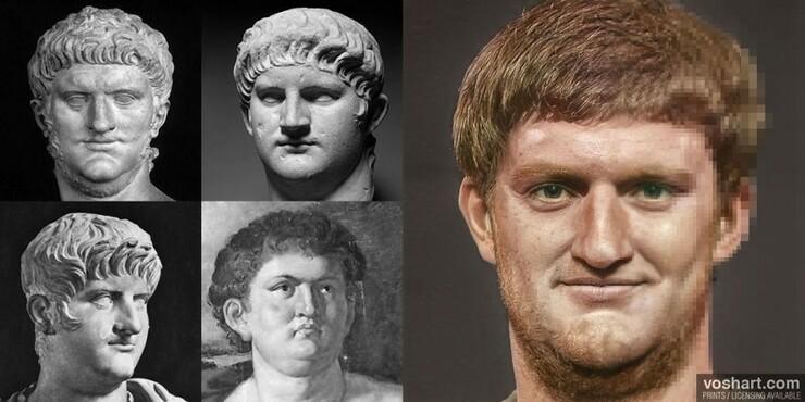 歴代ローマ皇帝54人の顔をAIで再現 彫刻などの歴史資料を活用